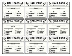 Hall Passes For School Hall Passes For Middle To High School By Hipandteach Tpt