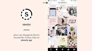 tutorial video plan insram stories on planoly app