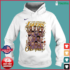 Los angeles lakers nba finals champions shop, lakers jerseys. Los Angeles Lakers 2020 Nba Champions Roster Shirt Hoodie Sweater Long Sleeve And Tank Top