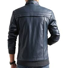 men blue pu leather jacket best s in india rediff ping