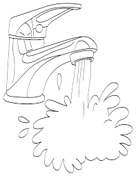 Small Picture Running water from tap coloring page Download Free Running water