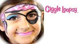 one stroke pirate face paint tutorial by giggle loopsy