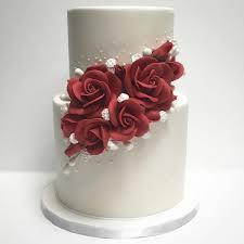 2 Tier Homecoming Cake With Red Roses Sri Lanka Online Shopping