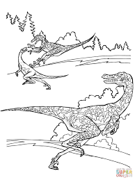 Small Picture Velociraptor Dinosaurs coloring page Free Printable Coloring Pages