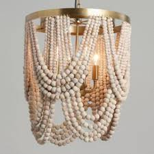 pendant lighting pictures. Whitewash Wood Draped Bead 4 Light Chandelier Pendant Lighting Pictures T