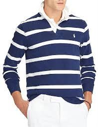 polo ralph lauren men mens iconic rugby shirt navy stripe 100 cotton stripe print 21829763