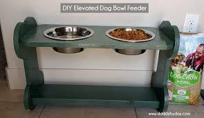 diy elevated dog bowl feeder daddy by day