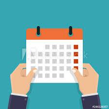 Hand Holding A Calendar Business Plans Strategic Plans