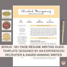 Resume Template Cv Template Cv Design Teacher Resume Template