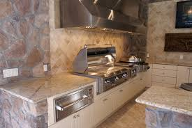 after the cabinets are installed grills appliances countertops and other finishing details are