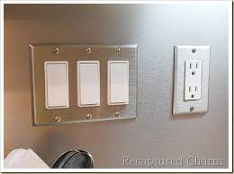 kitchen light switch covers kitchen.  Light Backsplash With The Look Of Stainless Steel Home Decor Kitchen  Backsplash Design Switch Cover  For Kitchen Light Covers E