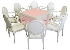 round glass kitchen table. Mashrabiya Round Glass Dining Table With Dior Armchairs 2 300x214 - Kitchen