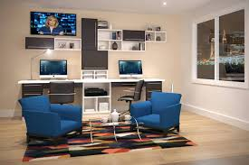 home office desk ideas for two home office with custom built in bookshelves spanning entire wall 2 home office with modern home office desk uk dual desk