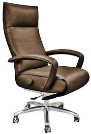 Office reclining chair High Back Lafer Gaga Executive Recliner Chair Leather Office Recliner By Lafer