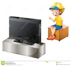 boy watching tv clipart. a boy watching tv royalty free stock photo tv clipart