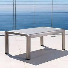 outdoor aluminum coffee table cape c outdoor aluminum coffee table by knight home cast aluminum outdoor outdoor aluminum coffee table