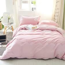 pink duvet cover set 100 cotton girls duvet cover white solid color bed sheets soft pillow case queen king size bedding set