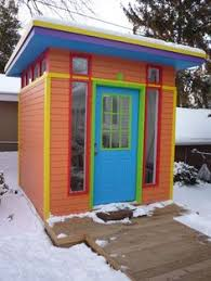 shed for living by fkda architects. living small can still be colorful! #coloreveryday shed for by fkda architects