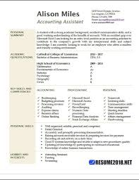 Resume Format 2018 Adorable Accounting Assistant Resume Samples 28 Resume 28