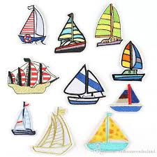 2019 sailing boat travelling embroidery patches sew iron on applique repair diy badge patch for kids clothes jacket bag garment from fashionwonderland
