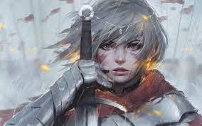 Anime Girl Warrior Fantasy 4K Wallpaper #12