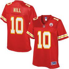 Nfl Chiefs Red Pro Hill Player Kansas Jersey City Line Tyreek Women's