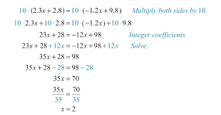 worksheet linear equations worksheets clearing decimals and fractions the coefficients of writing worksheet kuta