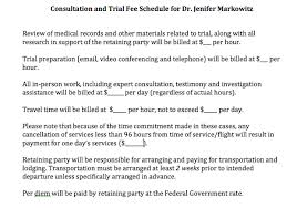Sample Doctors Note For Travel Cancellation Creating A Fee Schedule For Expert Consultation And Testimony