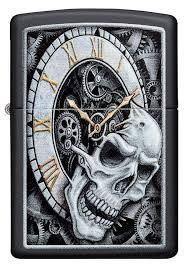 <b>Зажигалка Zippo Skull clock</b> design