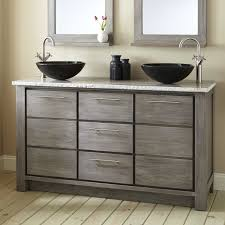 gray double sink vanity. two drawers and storage compartments are housed behind the front of vanity, ready to store all your bathroom essentials. 927578 gray double sink vanity