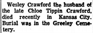 John Wesley Crawford Death Notice - Newspapers.com