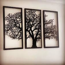 Shop our best selection of 3 piece wall art to reflect your style and inspire your home. Metal Wall Art Decor 3d Sculpture 3 Piece Oak Tree Modern Metal Tree Wall Art Metal Wall Art Decor Metal Tree