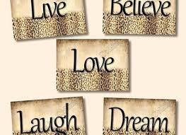 dream wall decor cheetah leopard print art girls room inspirational dreamwalldecor big