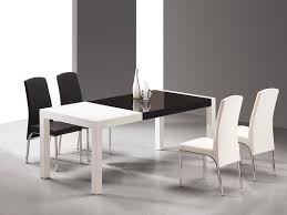 black lacquer dining room furniture. two toned black and white dining table with chairs lacquer room furniture d