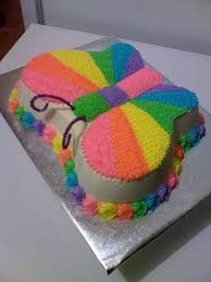 Rainbow Butterfly Cake Rainbows Cake Birthday Cake Butterfly