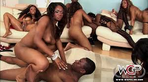 Ebony dark black orgy