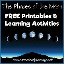 Phases Of The Moon Chart For Kids The Phases Of The Moon Free Printables And Learning