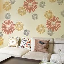 happy daisy wall art stencil