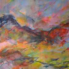 abstract landscape art painting paula brett