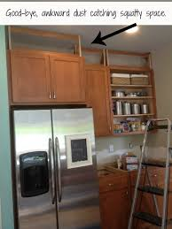 filling in that awkward space above the cabinets kitchen progress