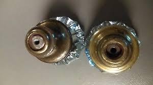 2 of 4 beautiful vintage glass door knobs 2 glass door knobs1 knobs