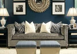 navy blue living room. Blue Grey Living Room Luxurious Velvet Couch With Navy Wall Color For Contemporary C