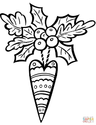 Small Picture Holiday Ornament coloring page Free Printable Coloring Pages