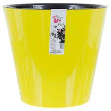 <b>Горшок цветочный</b> «Фиджи» жёлтый 5 л 230 мм, пластик, с ...