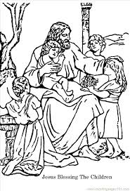 Jesus And The Children Coloring Pages Loves The Little Children Of