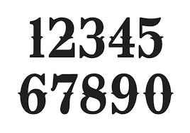 Number Stencil Font Fancy Number Fonts Tirevi Fontanacountryinn Com