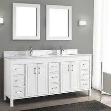 gray double sink vanity. corniche 75\u201d white double sink vanity by studio bathe gray a