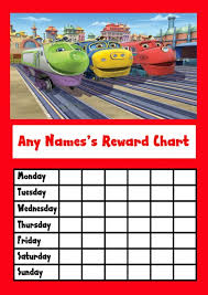 Chuggington Star Sticker Reward Chart The Card Zoo