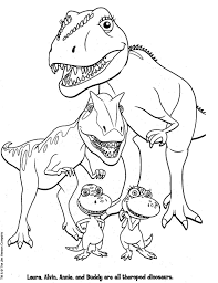Small Picture Free Dinosaur Coloring Pages Cartoon Dinosaur Color Page More