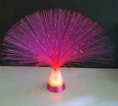 fiber optic lighting home with design color pink
